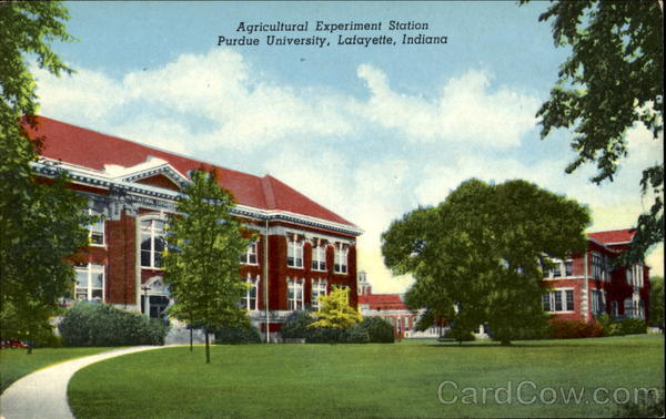Agricultural Experiment Station, Purdue University Lafayette Indiana