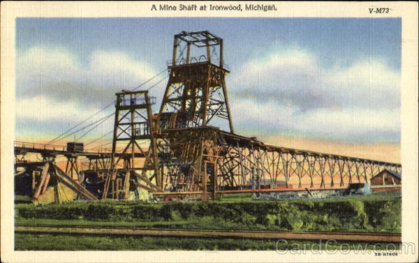 A Mine Shaft At Ironwood Michigan