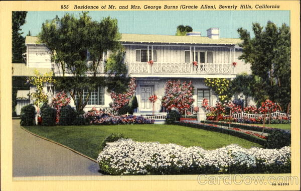 Residence Of Mr. And Mrs. George Burns Beverly Hills California