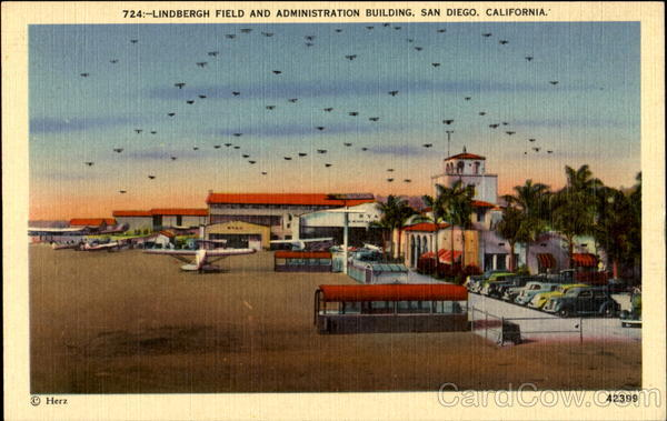 Lindbergh Field And Administration Building San Diego California