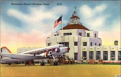 Municipal Airport Postcard