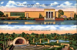 Hall Of Fine Arts Band Shell And Amphitheater Postcard