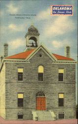 Osage Indian Council House Postcard