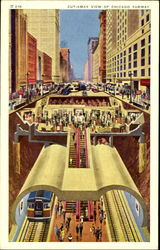 Cut-Away View Of Chicago Subway
