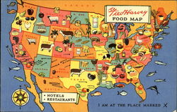 Fred Harvey Food Map