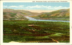 Wenatchee Valley And Columbia River Postcard