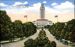 University Avenue And University Of Texas Tower
