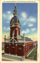 Catholic Cathedral, 11th and Broadway Postcard