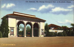 Entrance, The Chicago Zoological Park Postcard