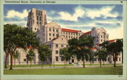 International House, University Of Chicago Postcard