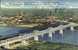 Aerial View Of The New Memphis And Arkansas Bridge