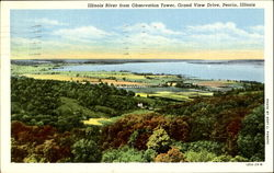Illinois Rive From Observation Tower, Grand View Drive