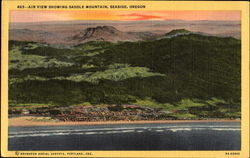 Air View Showing Saddle Mountain