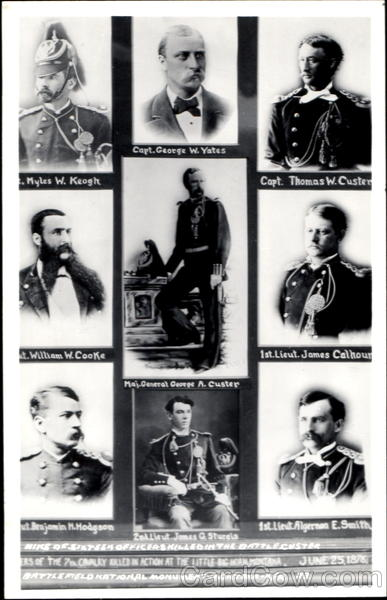 Nine Of Sixteen Officers Killed In The Battle Custer Montana