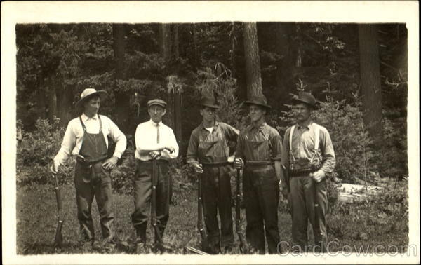 Group of Men with Rifles Huting Hunting