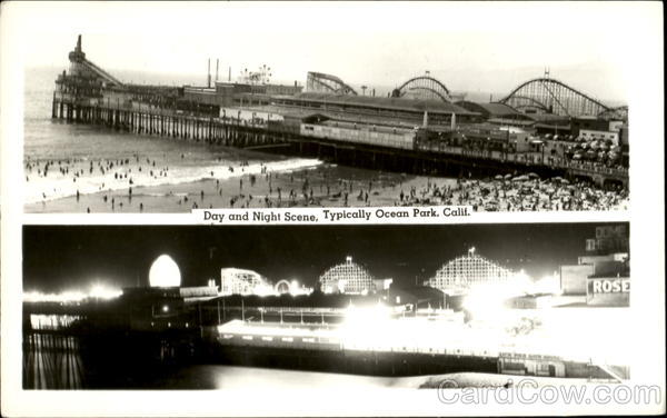 Day And Night Scene, Typical Ocean Park Santa Monica California