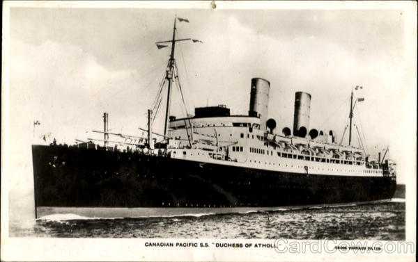 Canadian Pacific S. S. Duchess Of Atholl Boats, Ships