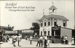 Frontier Town Of Gold Rush Days Postcard
