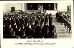 Sunday Church Services, U.S. Naval Training Station