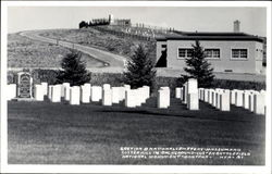 Section B National Cemetery-Museum And Custer Hill In Background