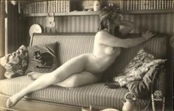 French Nude Series 4043-4 Postcard