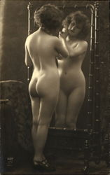 French Nude #207 - Looking in Mirror