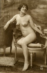 French Nude #205 Postcard