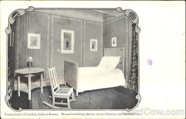 Young Lady's Chamber Suite Of Rooms Jordan Marsh Series Boston Massachusetts