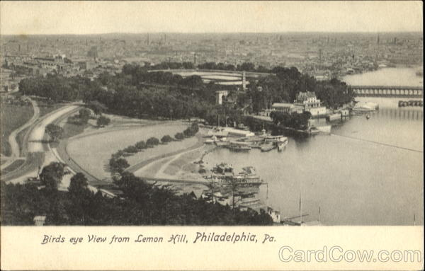 Birds Eye View From Lemon Hill Philadelphia Pennsylvania