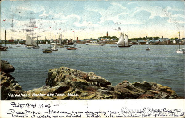 Marblehead Harbor And Town Massachusetts