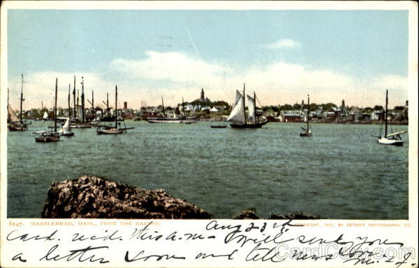 Marblehead From The Harbor Massachusetts