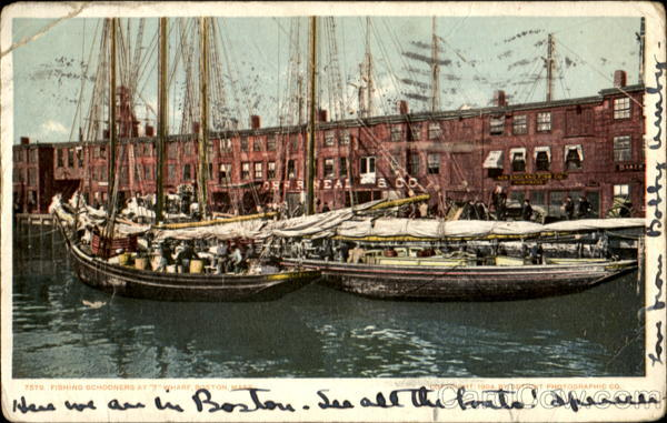 Fishing Schooners At T Wharf Boston Massachusetts