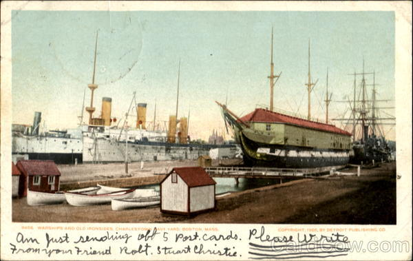 Warships And Old Ironsides Charlestown Navy Yard Boston Massachusetts