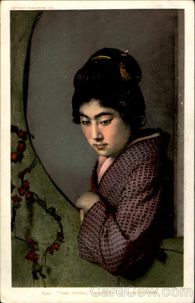 Japanese Woman The Spider Watching By The Window Asian