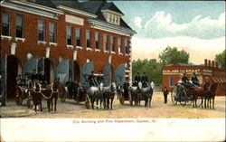 City Building And Fire Department Postcard