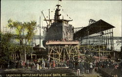 Launching Battleship Georgia