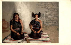 Mother And Daughter Hopi (Moki) Indians