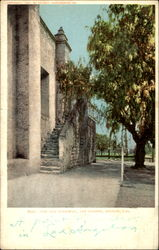 The Old Stairway San Gabriel Mission Postcard