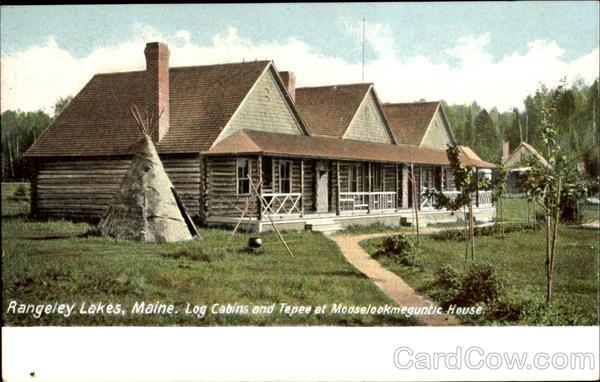 Log Cabins And Tepee At Mooselookmeguntic House Rangeley Me