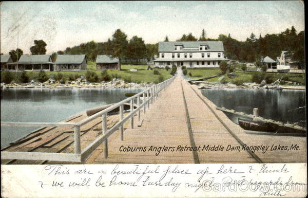 Coburns Anglers Retreat, Middle Dam, Rangeley Lakes Maine