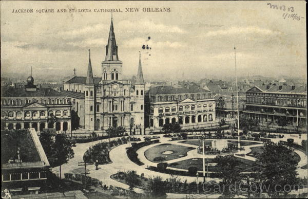 Jackson Square And St. Louis Cathedral New Orleans Louisiana