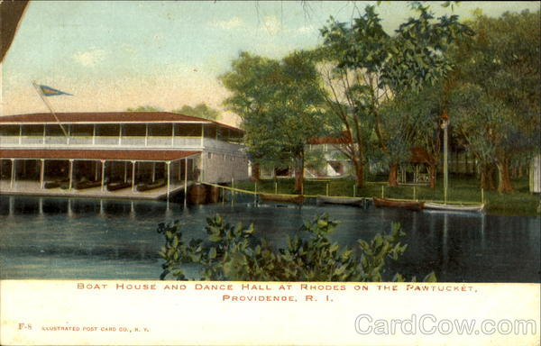 Boat House And Dance Hall At Rhodes On The Pawtucket Providence Rhode Island