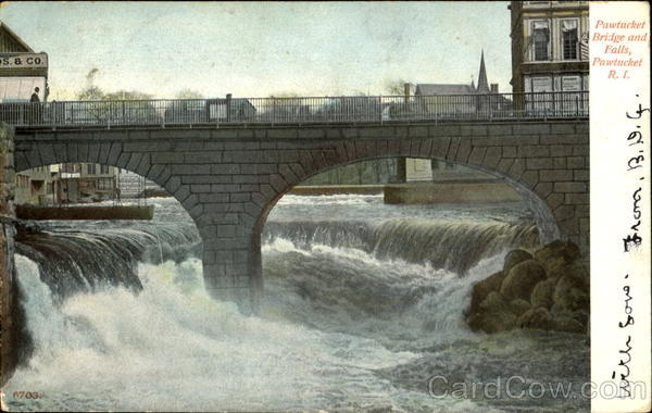 Pawtucket Bridge And Falls Rhode Island