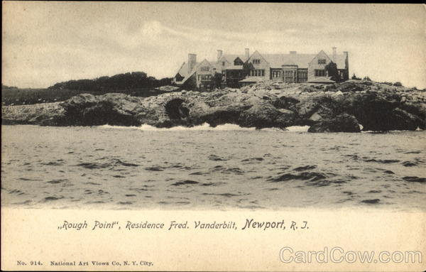 Rough Point Residence Fred, Vanderbilt Newport Rhode Island