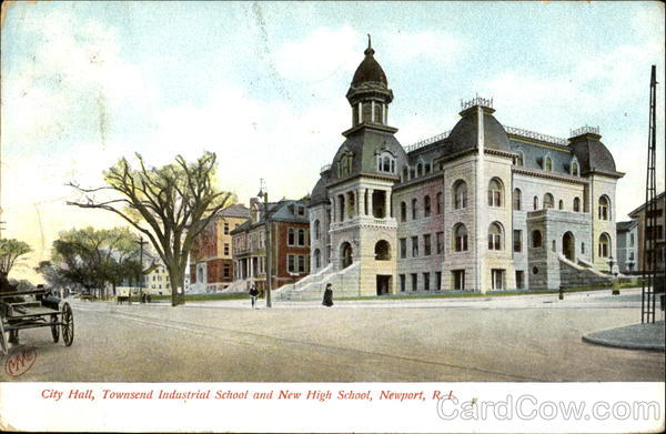 City Hall Townsend Industrial School And New High School Newport Rhode Island