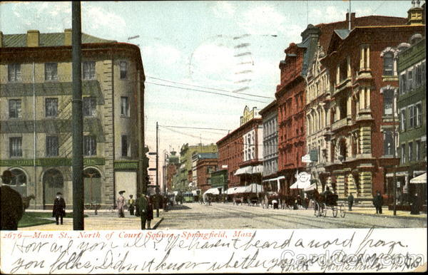 Main Street North Of Court Square Springfield Massachusetts