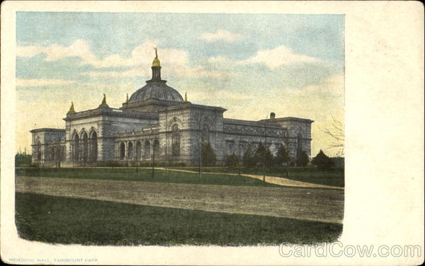 Memorial Hall, Fairmount Park Philadelphia Pennsylvania