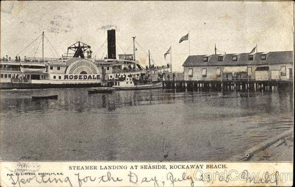 Rosedale Steamer Landing At Seaside Rockaway Beach New York