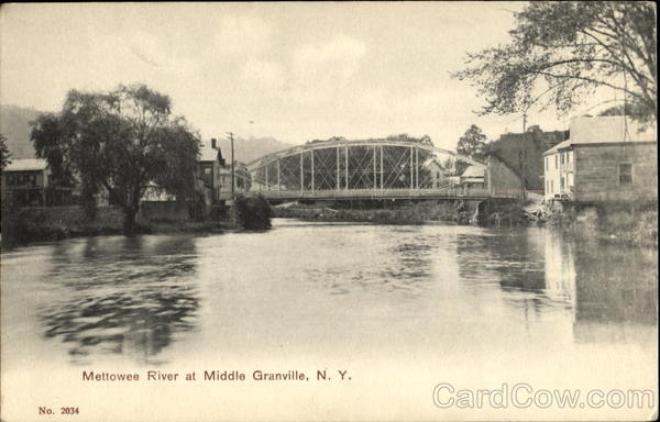 Mettowee River Middle Granville New York