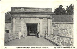 Entrance To Fortress Monroe, Old Point Comfort Postcard